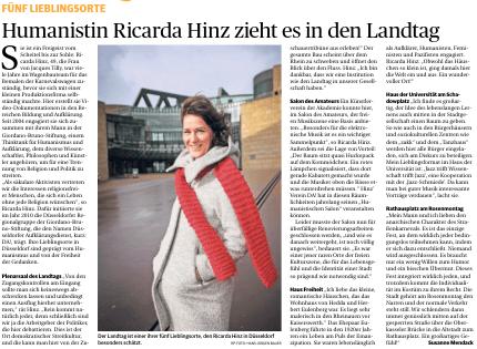 Wir sind DA! 2019-04-23-20_37_53-20190423_Rheinische-Post-Seite-25 Fünf Lieblingsorte - Humanistin Ricarda Hinz zieht es in den Landtag Presseartikel